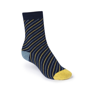 ThokkThokk Thin Striped High-Top Plüsch Socken midnight - THOKKTHOKK