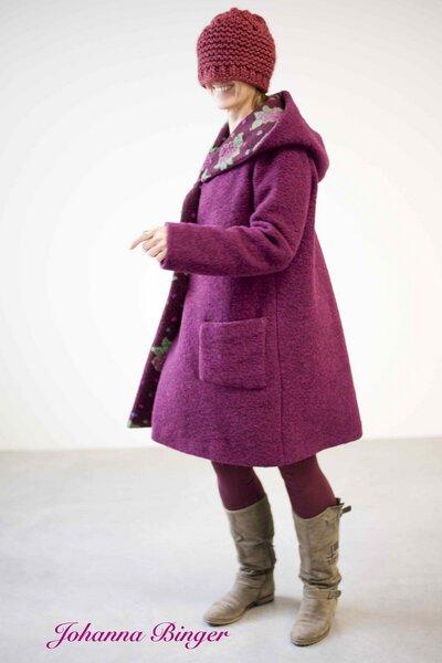 warmer flauschiger und l ssiger mantel mit gro er kapuze. Black Bedroom Furniture Sets. Home Design Ideas