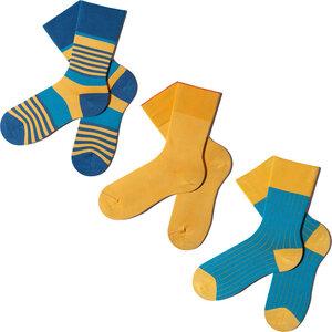 3 Paar Socken - Yellow Blue Geschenkbox  - MINGA BERLIN