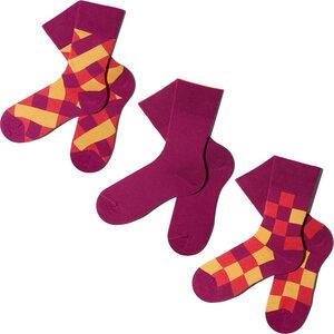 3 Paar Socken - Coral Purple Geschenkbox - MINGA BERLIN