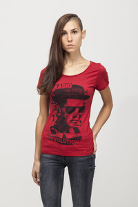 Amelia T-shirt - Bamboo - Chili Pepper  - Re-Bello