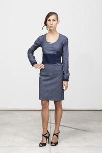 Barbara Dress - Organic Cotton -Chambray Blue  - Re-Bello