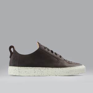argan low / braunes glattleder / schwarze sohle - ekn footwear