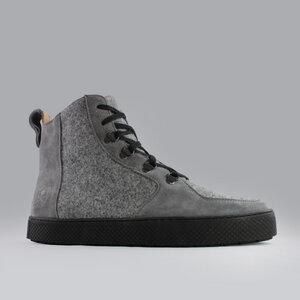 argan high / grauer filz / schwarze sohle - ekn footwear