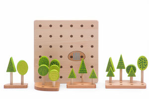 Bajo Steckspiel Wald und Baume Central Park - BAJO Holzspielzeug