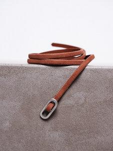 Skinny Gürtel aus Leder - LANIUS