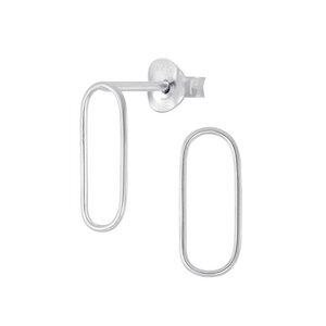 Feine Ohrstecker Oval - 925er Sterling Silber - Silber/Gold - LUXAA®