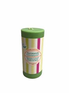 BIO Kerze aus Rapswachs 110 mm Sommer-Dekor in 4 Farben - Stuwa