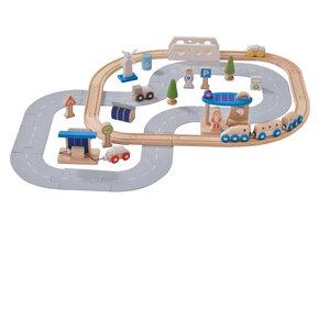 Eisenbahn-Set ökologische Stadt  - EverEarth
