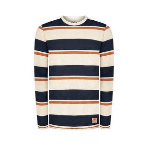 Captains Hanf Sweater Blau/ Weiß - bleed