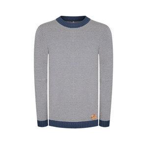 Heavyeah Pullover Blau/ Weiß - bleed