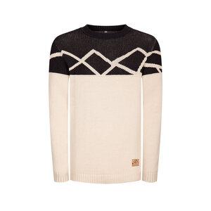 Graphic Mountain Pullover Schwarz/ Weiß - bleed