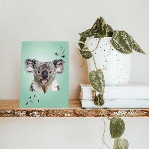 Koala, Postkarte DIN A6 - Printe