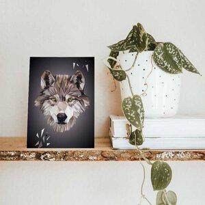 Wolf, Postkarte DIN A6 - Printe
