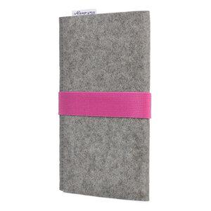 Handyhülle AVEIRO für Gigaset - 100% Wollfilz - grau - flat design by Mareike Kriesten