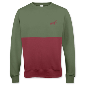 'Olive & Burgundy' Cut'n'Sew Sweatshirt UNISEX - What about Tee