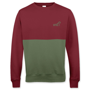 'Burgundy & Olive' Cut'n'Sew Sweatshirt UNISEX - What about Tee