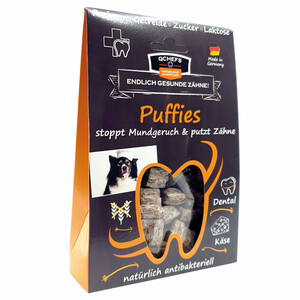 Puffies - Hundeleckerlies aus Hüttenkäse und Buchweizen - qchefs