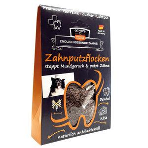 Zahnputzflocken für Hunde - natürliche Zahnpflege & Anti-Mundgeruch - qchefs