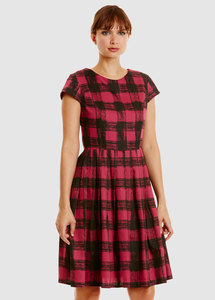 Nadia Flared Dress Pink - People Tree