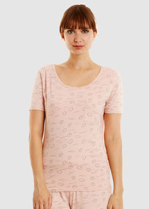 Cloud Pyjama Short Sleeve Top Pink - People Tree