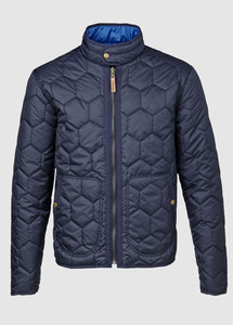 Reversible Quilted Jacket Total Eclipse - KnowledgeCotton Apparel