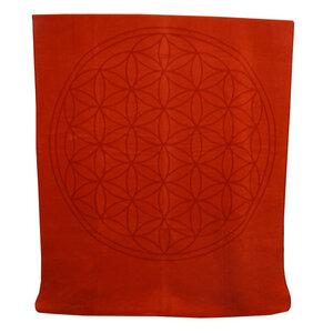 Decke Blume des Lebens 150*200 cm Bio-Baumwolle - Richter Textilien