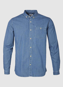 Denim Campray Shirt Dark Denim - KnowledgeCotton Apparel