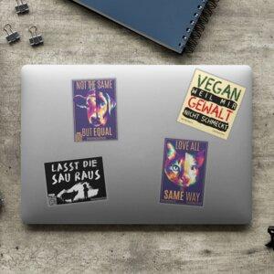 Vegan Sticker Set - Aufkleber - Team Vegan