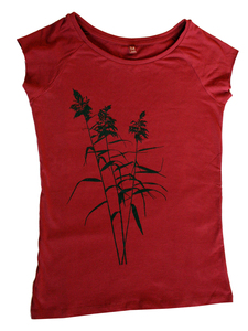 Bio-Fairtrade-Frauenshirt 'Schilf' - Hirschkind