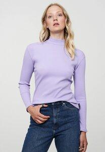 Damen Langarmshirt aus weichem Rib-Jersey   Longsleeve POPPY - recolution