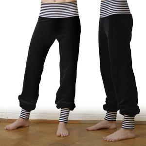 Wohlfühl und Yogahose aus Nicki schwarz - Cmig