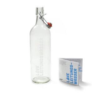 Bügelflasche - LOVE Leitungswasser mit Gravur - HYDROPHIL