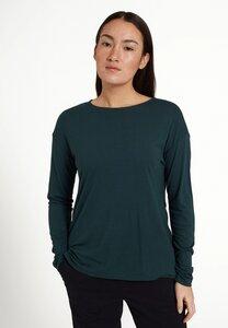 Damen Langarmshirt aus weichem ECOVERO   Longsleeve FUCHSIA - recolution