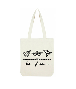 "be free – Shopper Bag ""natur""  - DENK.MAL Clothing"