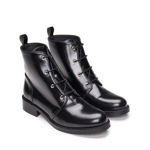 NAE Melany Black- vegane, geschnürte Boots - Nae Vegan Shoes