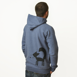 Franzi Fuchs Hoodie in dark heather blue - Cmig