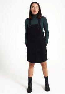 Damen Latzkleid aus robustem Baumwoll-Jeans | Dress CILANTRO - recolution