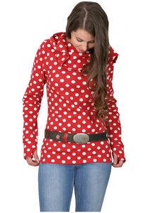 Hoodie Polka Dots rot - Die rote Zora