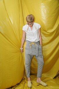 Hose mit Tunnelzug (grau/gelb) - käufer (d) sein