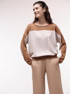 Colourblock-Pullover aus Bio-Baumwolle - LANIUS