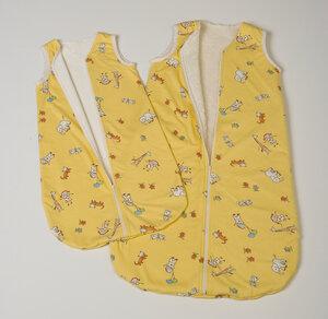 Schlafsack Kinder 70cm 90cm 100% Baumwolle kbA Prolana ZOO - Prolana