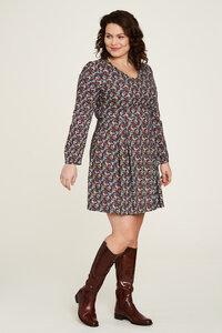 EcoVero Kleid mit Muster in verschiedenen Farben - TRANQUILLO