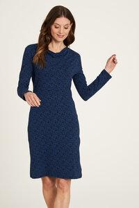 Jersey Kleid aus Bio-Baumwolle mit Print in Grün und Dunkelblau - TRANQUILLO