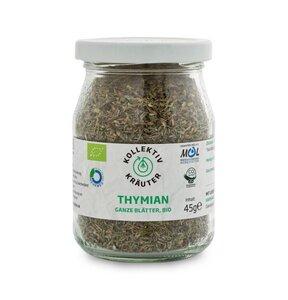 KollektivKräuter Bio-Thymian - ganze Blätter Thymian im Mehrwegglas - KollektivKräuter