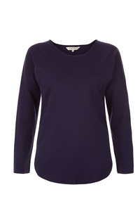 Hallie Langarmshirt von People Tree navy-dunkellila - People Tree
