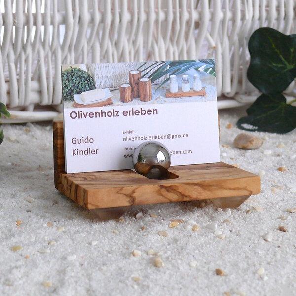 Olivenholz Erleben Visitenkartenhalter Aus Olivenholz Avocadostore