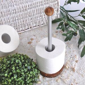 Toilettenrollen-Ständer aus Olivenholz - Olivenholz erleben