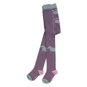 Strumpfhose DOG PLUM (GOTS zertifiziert) - Organics for Kids