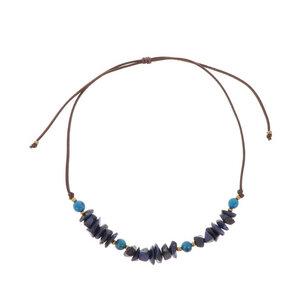 Verstellbare Halskette aus Tagua und Acai - Alicia - MoreThanHip-Joyas